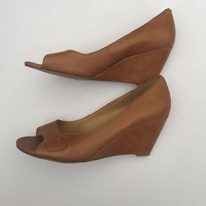 Nine West Wedge Peeptoe Heels Sandals